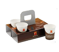 Nosilka za 4 skodelice coffee to go